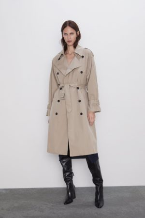 WATER-REPELLENT BUTTONED TRENCH COAT