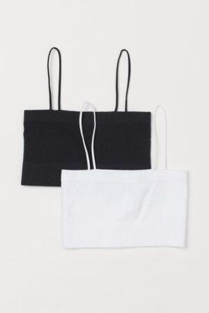 2-pack seamless bra tops
